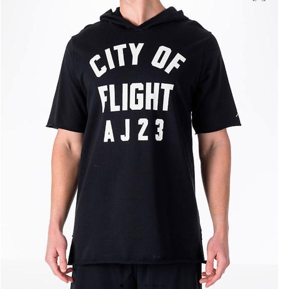 386bba2fb5e Nike Shirts   Aj 23 City Of Flight Hooded Shirt   Poshmark